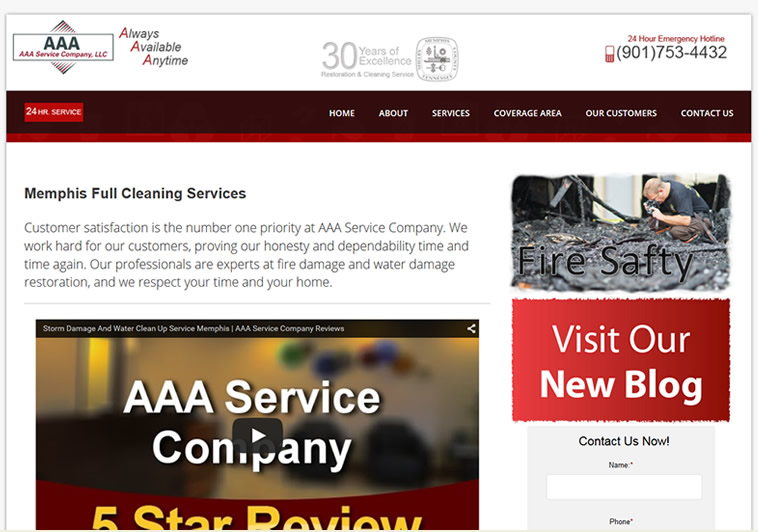 local seo for AAA ServCo homepage