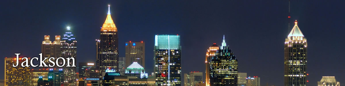 jackson mississippi skyline at night