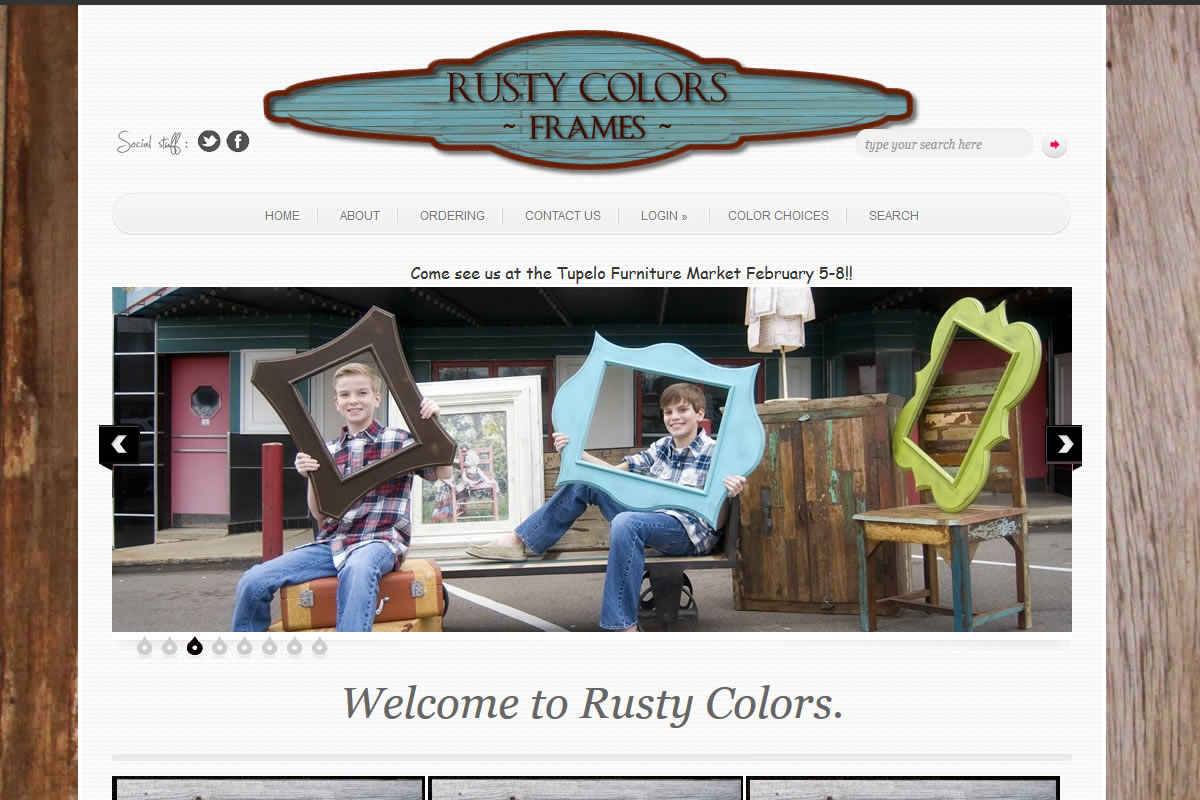 rusty colors homepage image